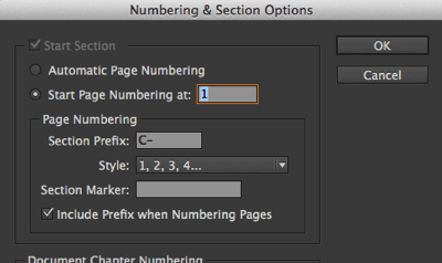 how to start page numbers on page 3