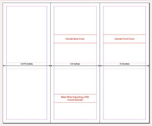 InDesign template tri-fold brochure