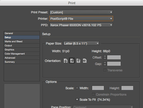 how to prepare an indesign file for print