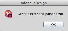 Generic extended parser error