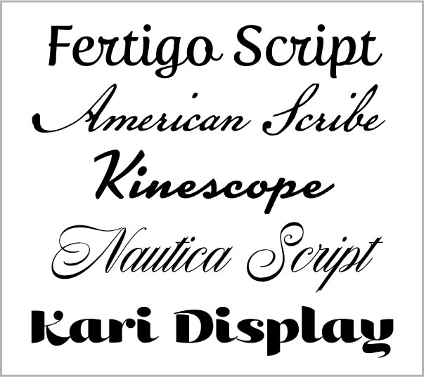 5 Great Script Fonts From Adobe Typekit - InDesignSecrets com
