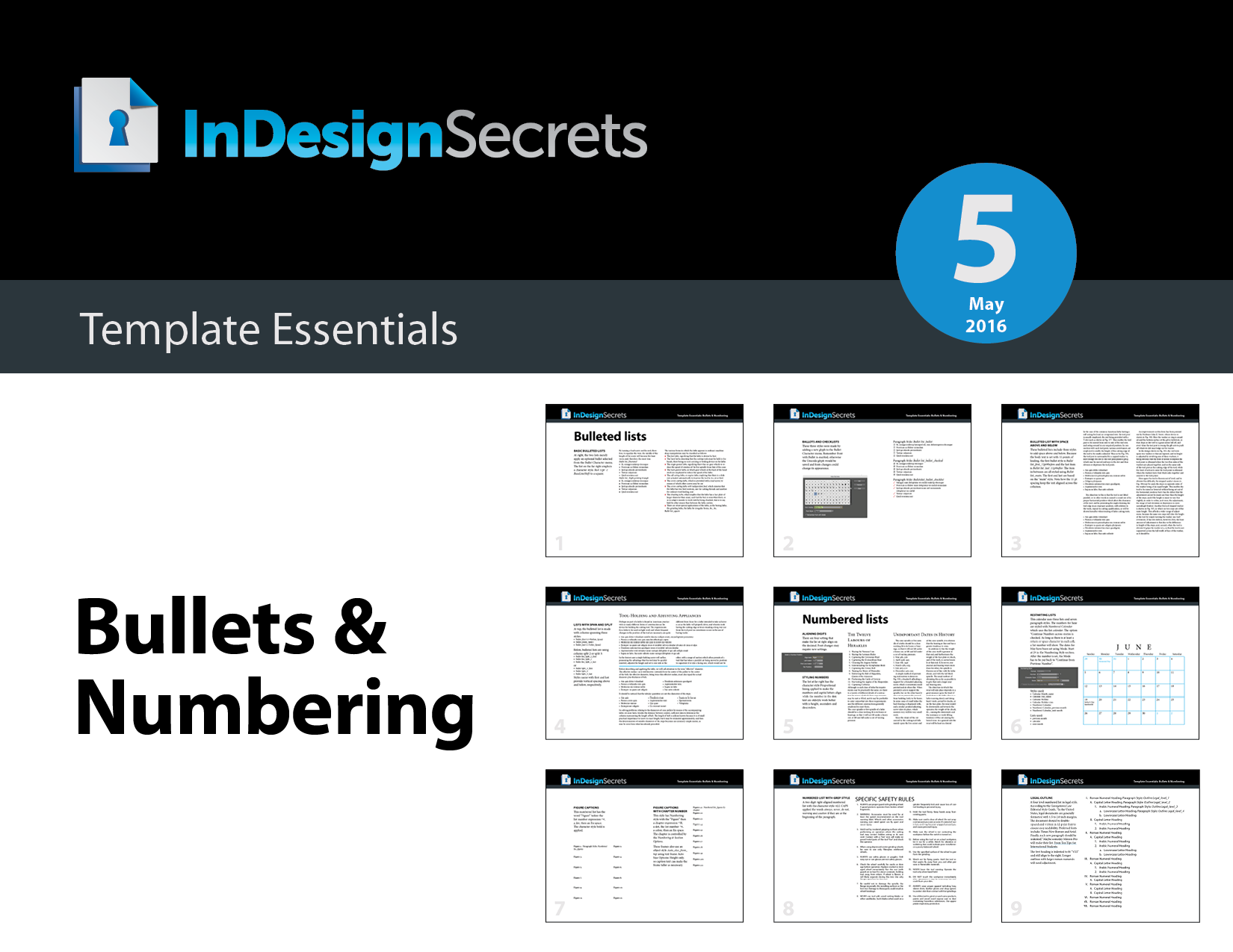 indesign template essentials bullets numbering indesignsecrets indesignsecrets. Black Bedroom Furniture Sets. Home Design Ideas