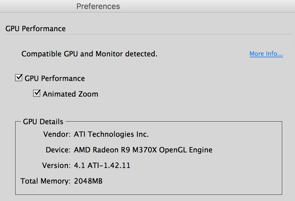 GPU Support and Animated Zoom Arrives (for the Mac