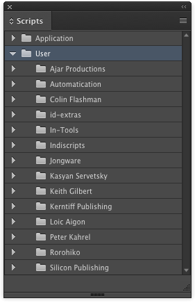 indesign tip organizing scripts panel