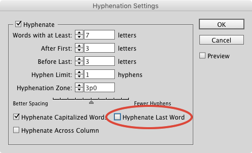 hyphenation-customization