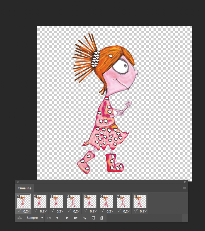 creating animated GIFs in Photoshop