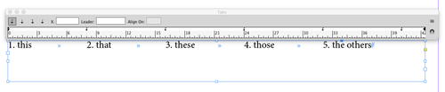 InDesign tip repeat tabs