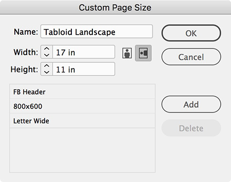 saving the new custom page size