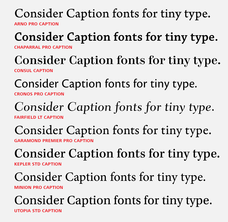 Rules for Working With Tiny Type - InDesignSecrets com : InDesignSecrets
