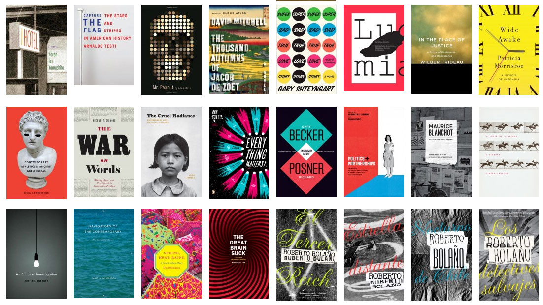 The book cover archive is a treasure trove of design for Layout book design inspiration