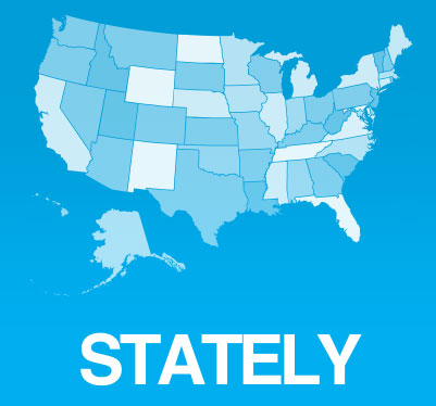 Stately map font